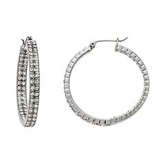 Simply Vera Vera Wang Simulated Stone Inside Out Hoop Earrings