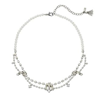 Simply Vera Vera Wang Simulated Pearl & Crystal Double Strand Necklace