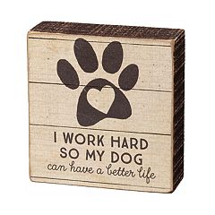 'My Dog' Paw Print Box Sign Art