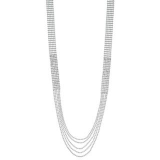 Simply Vera Vera Wang Simulated Crystal Long Multi Strand Necklace