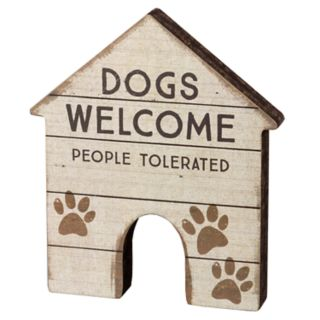 """Dog House """"Welcome"""" Table Decor"""