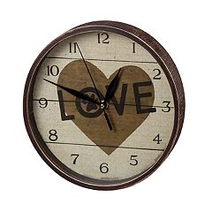 Paw Print 'Love' Wall Clock