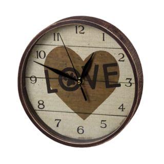 "Paw Print ""Love"" Wall Clock"