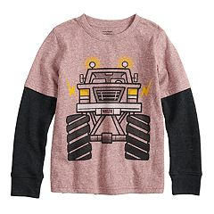 Boys 4-12 Jumping Beans® Thermal Mock Layer Softest Graphic Tee