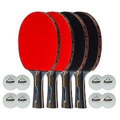 Franklin Sports Pro Carbon Core 4 Player Table Tennis Set