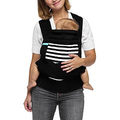 69652d9ce3f Moby Wrap Buckle Tie Striped Baby Carrier
