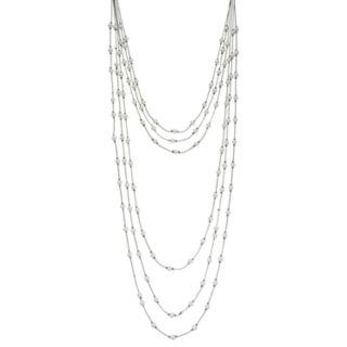 Simply Vera Vera Wang Simulated Pearl Draped Chain Necklace