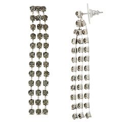 Simply Vera Vera Wang Simulated Crystal Linear Drop Earrings
