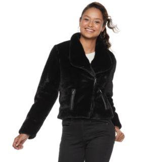 Disney's The Nutcracker Juniors' Collection Faux-Fur Moto Jacket