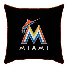 Miami Marlins Throw Pillow