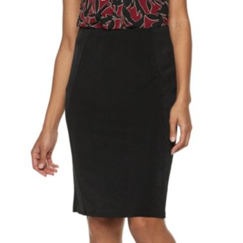 Women's Dana Buchman Pull-On Pencil Skirt