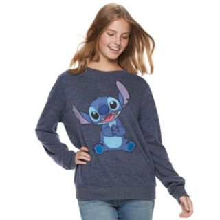 Disney's Lilo & Stitch Juniors' Paws Together Graphic Long Sleeve Top
