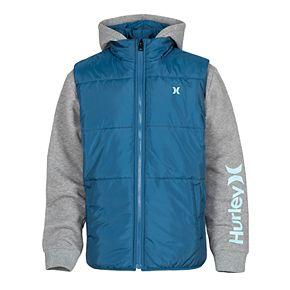 Boys 8-20 Hurley Puffer Fleece Jacket
