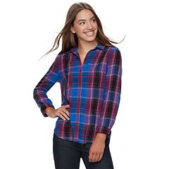 Juniors' SO® Button-Front Shirt