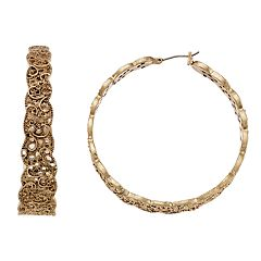 Simply Vera Vera Wang Filigree Hoop Earrings