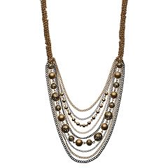 Simply Vera Vera Wang Two Tone Draped Chain Necklace