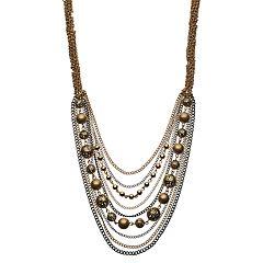 Simply Vera Vera Wang Two Tone Draped Chain Necklace