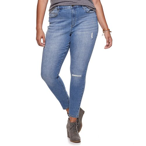 Juniors' Plus Size Mudd® High-Waisted Jeggings