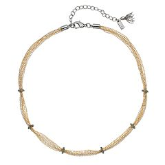 Simply Vera Vera Wang Tri Tone Collar Necklace