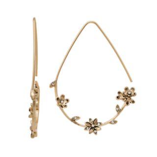 Simply Vera Vera Wang Simulated Stone Flower Threader Earrings