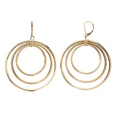 Simply Vera Vera Wang Orbital Hoop Drop Earrings
