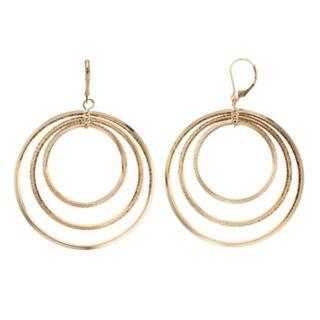 Simply Vera Vera Wang Orbital Hoop Drop Earrings