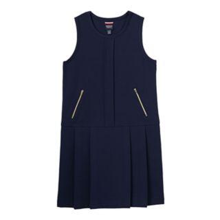 Girls 4-16 French Toast School Uniform Zipper Knit Jumper