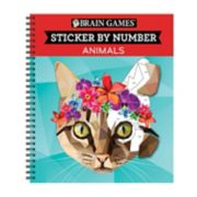 Sticker By Number Animals Book by Publications International, Ltd.