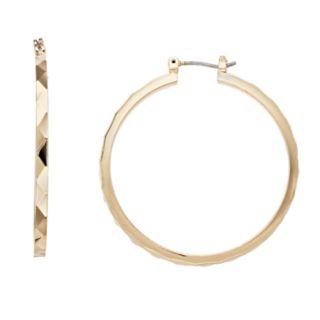 Simply Vera Vera Wang Textured Hoop Earrings