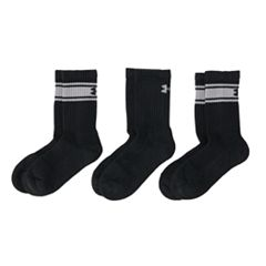 Boys 4-20 Under Armour 6-Pack Charged Cotton Crew Socks