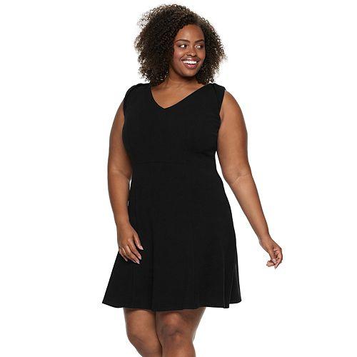 Plus Size Suite 7 Fit & Flare Dress