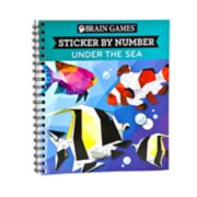 Sticker By Number Under The Sea Book by Publications International, Ltd.