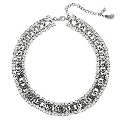 Simply Vera Vera Wang Simulated Crystal & Chain Collar Necklace