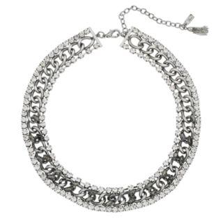 Simply Vera Vera Wang Simulated Crystal & Chain Collar Necklace