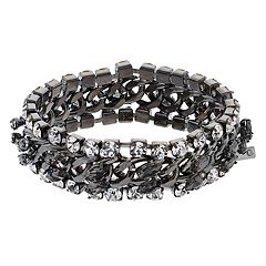 Simply Vera Vera Wang Simulated Crystal Chain Stretch Bracelet