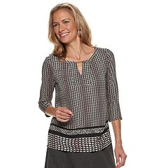 Women's Dana Buchman Metal-Accent Keyhole Top