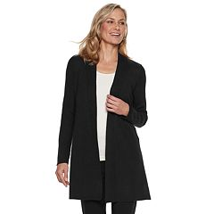 Women's Dana Buchman Ribbed Long Cardigan Sweater