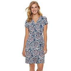 Women's Nina Leonard Floral Wrap Dress