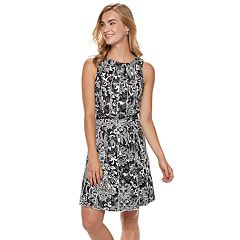 Women's Nina Leonard Print Pleated Shift Dress
