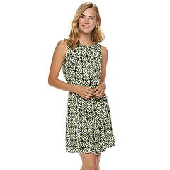 Women's Nina Leonard Print Pleated Shift Dress