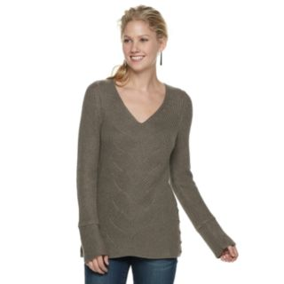Women's SONOMA Goods for Life? Button Accent V-Neck Sweater