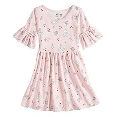 Disney's Alice in Wonderland Girls 4-7 Ruffle Sleeve Dress by Disney/Jumping Beans®