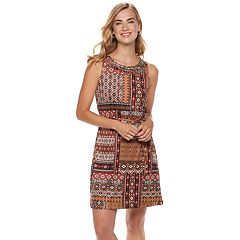 Women's Nina Leonard Print Embellished Shift Dress