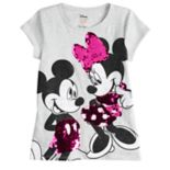 Disney's Mickey & Minnie Mouse Girls 4-10 Flip-Sequin Glittery Graphic Tee by Jumping Beans®
