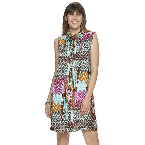 Women's Nina Leonard Print Shirt Dress