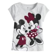 Disney's Mickey & Minnie Toddler Girl Glitter Sequin Tee by Jumping Beans®