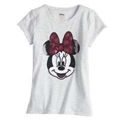 Disney's Minnie Mouse Toddler Girl Short-Sleeve Sequined Graphic Tee by Jumping Beans®