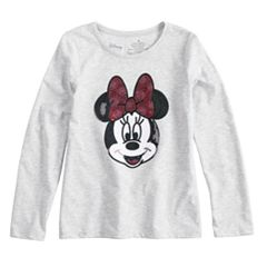 Disney's Minnie Mouse Toddler Girl Long-Sleeve Sequined Graphic Tee by Jumping Beans®