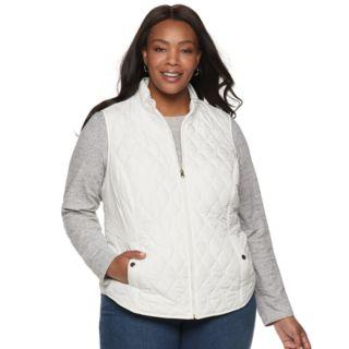 Plus Size Croft & Barrow® Classic Quilted Vest