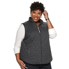 Plus Size Croft & Barrow® Classic Quilted Vest